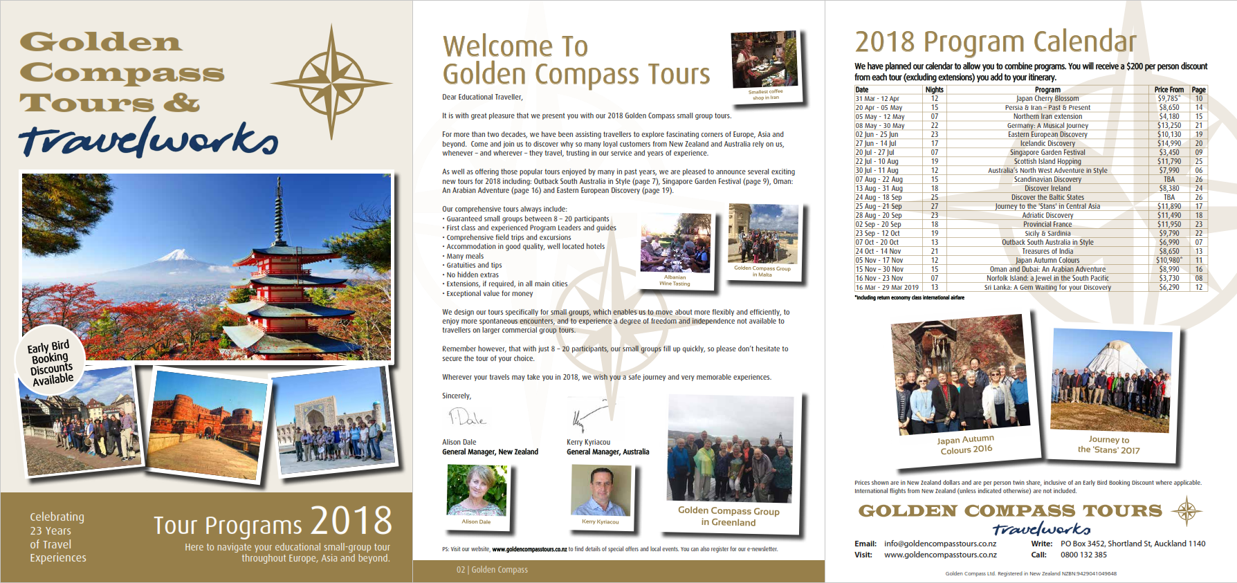 Click Here to view our 2018 Tour Brochure